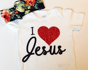 I love Jesus Onesie Baby Shower Gift Funny Cute INFANT T-SHIRT