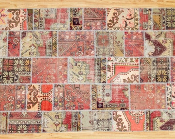 Vintage Patchwork Rug 6.60 x 9.80 ft  (200 cm x 300 cm)