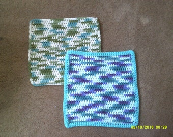Crocheted Dishcloths and Washcloths