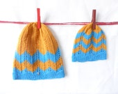 Mommy and me Mom and baby matching knit hats set of 2 baby shower gift