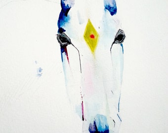My Horse Got Something On Its Forhead art print - Limited Edition