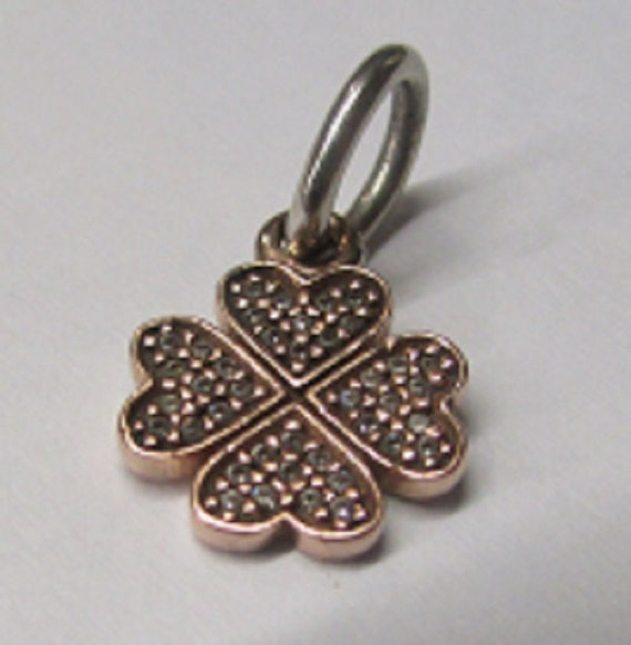 pandora gold lucky clover pendant charm by butlersjewelry