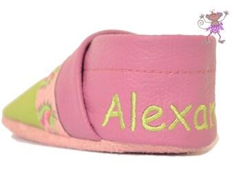 Name embroidery heel
