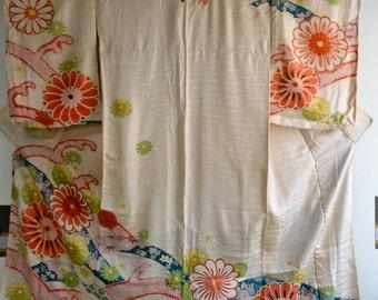 Japanese Vintage Silk Kimono 114