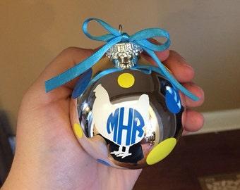 4-h Chicken Monogram Ornament, Show Chicken Ornament, Monogram Ornament, Personalized Chicken Ornament, Chicken Ornament