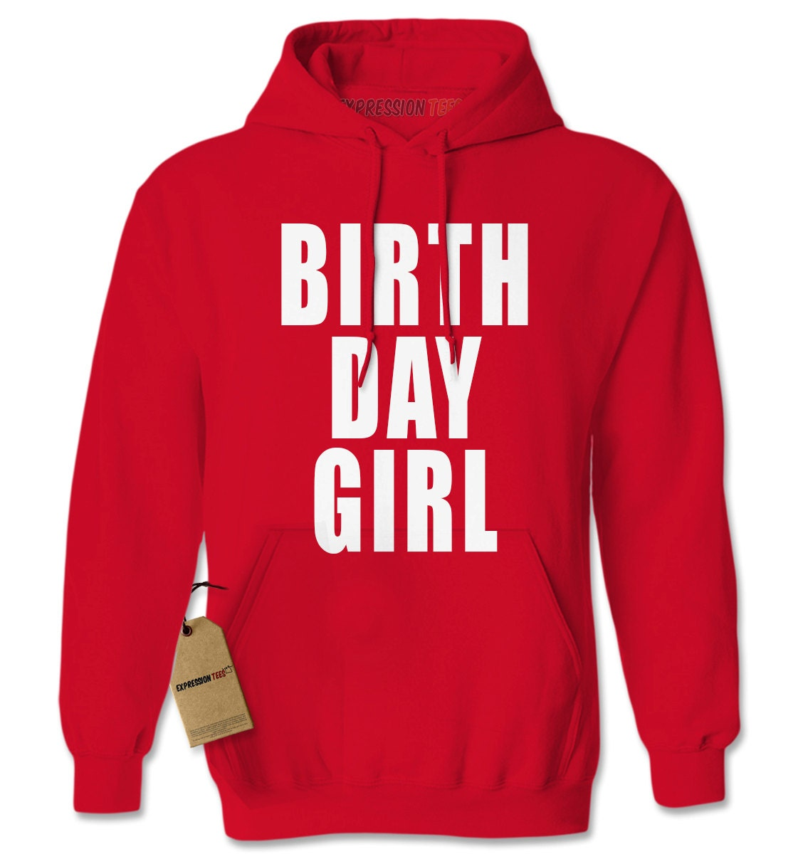 Hoodie Birthday Girl Hooded Jacket Sweatshirt Birthday Party