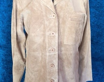 Suede Shirt Jacket Taupe