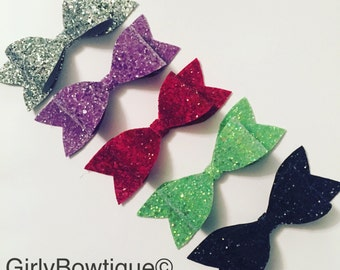 Chunky glitter clips
