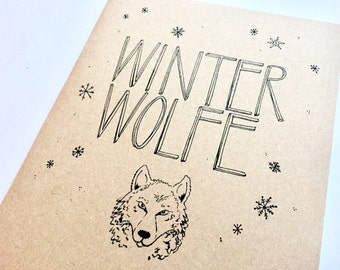 Personalised notebook, illustration, notes, typography, gift