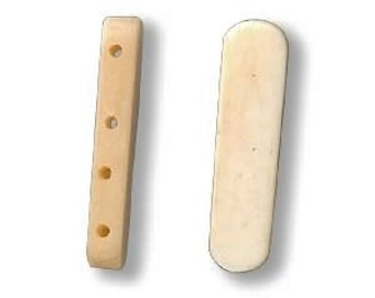 White Spacer Bar, Antiqued Bone Spacer, 4 strand spacer bar, 28x9mm to 30x11mm, 4 each, D577