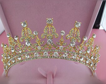 Wedding Tiara Bridal Tiara  Crystal Tiara Crowns RhinestoneTiara Headband Wedding Hair Accessory bridal crown wedding crown