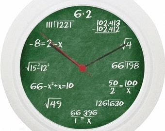 Maths Equation Wall Clock