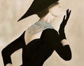 Coco Chanel Fashion Illustration Classic Art Print Poster Couture