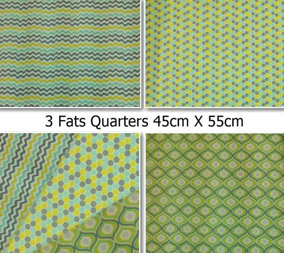 3 Fats Quarters 18 Quot X 22 Quot 45cm X 55cm Camelot Cotton