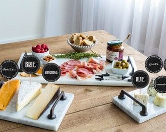 Cheese labels - Cheese tags - Cheese name tags - Instant Download, hors d'oeuvre parties
