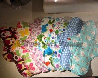 Menstrual Pads, Cloth Pad Set, Reusable Pads, Reusable Cloth Pads, CSP, WSP, Sanitary Pads, Cloth Pads, Mamacloth, Mama cloth