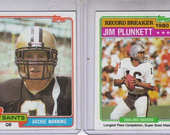 1981 Archie Manning And 1981 Jim Pluckett
