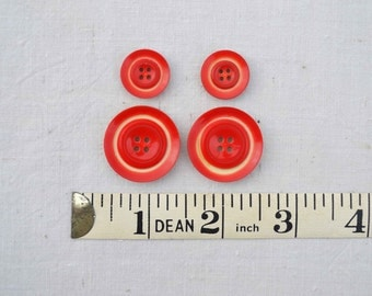 Vintage Red Ombre Buttons