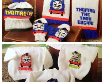 Thomas The Tank Engine , Hat,Scarf,Mitts, Jumpers BARGAIN PRICE Knitting Pattern