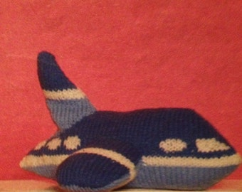 Toy Aeroplane Knitting Pattern