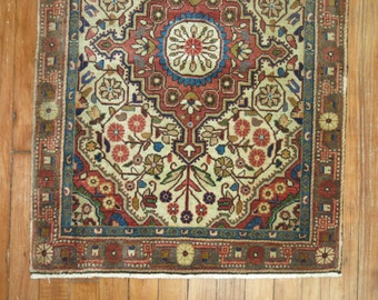 Antique Persian Sarouk Rug Size 2'x2'11''