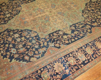 Antique Persian Sarouk Farahan Rug Size 8'10''x11'11''