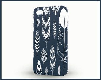 Tribal iPhone 6 case, Feathers iPhone SE case, Blue iPhone 6 plus cover, Galaxy phone cover, Plume,Fringe cell phone cases for iPhone 5c, 5s