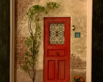 Dollhouse, Miniature Door Art