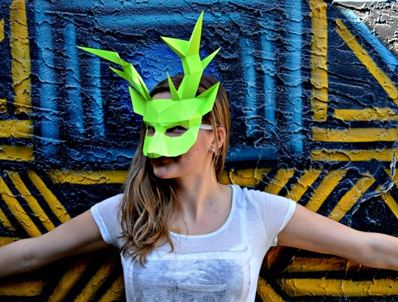 Masquerade Deer Paper Mask From Rpscreations On Etsy Studio