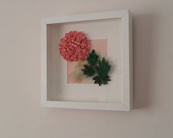Quilled paper art, Quilled hydrangea, Quilling Frame, Quilling art, Paper wall art, Wall decor, Home decor, Quilled, Quilled gift, Quilling