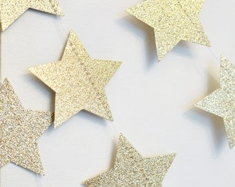 Gold Twinkle Twinkle Little Star, Paper Garland, Birthday Party Decor, Christmas Star, Nursery Decor