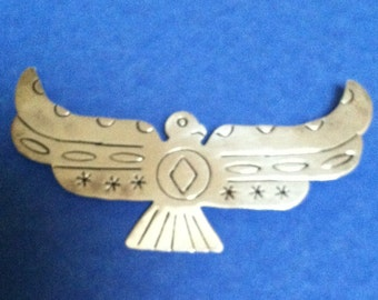 Vintage Mexican Sterling Silver Thunderbird Pin by Fleming