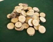 Wood Slices Disc, Alder Wood 50 Blank Wood Tags, Tree Branch, Wedding Supplies, Wood Buttons,  Craft Painting Supplies, Rustic Wedding