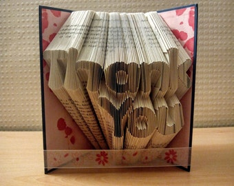 Thank You Folded Book - Mothers Day - Birthday - Wedding - Anniversary - Girlfriend Gift - Boyfriend Gift - Gift for Friends - Gift for Her