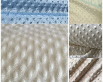 Minky Fleece Fabric per Meter Poly Dimple Fleece Fabric Various Colours 150cm Wide