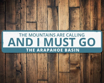 The mountains are calling and i must go etsy for The mountains are calling and i must go metal sign