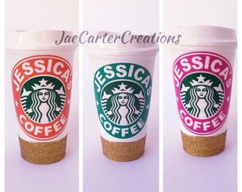 Monogrammed Starbucks Travel Cup