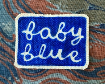 Baby Blue Sew On Canvas Patch