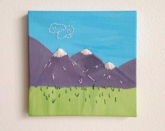 Mountains Majesty Embroidered Painting