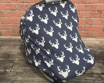 Car Seat Cover. Nursing Cover. Highchair Cover. Shopping Cart Cover. Baby Shower Gift. Twilight Buck