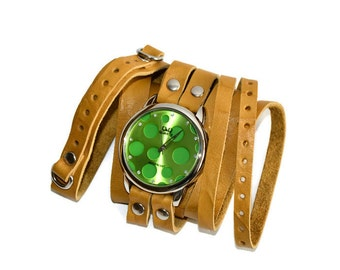 wrist watch Pease , green watch yellow watch hipster watches stylish watches bright watches , pea