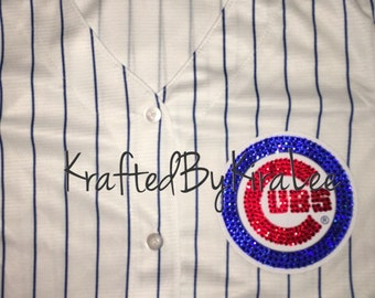 Chicago Cubs Women's Jersey with Swarovski Crystals