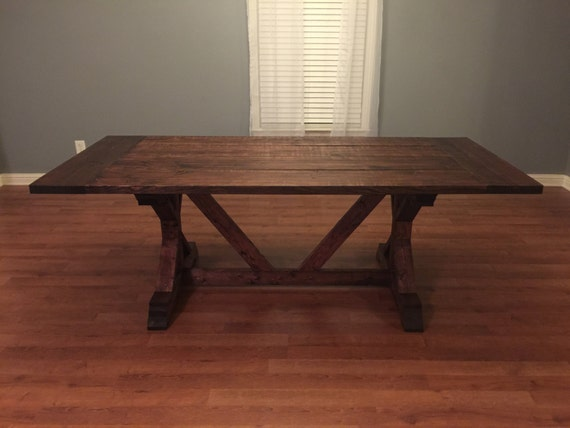 "84"" Farmhouse Table Fancy X Indianapolis Location Any Minwax Stain"