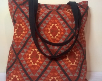 CLEARANCE...SALE...Tote Bag, Handmade Tote Bag, Lined Tote Bag, Canvas Bag, Carry All Bag, Beach Bag, Large Tote Bag, Tote, Fabric Tote Bag