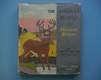 Platt & Munk Classic ~ The Animal World of Thornton Burgess ~ Illustrated by Harrison Cady ~ 1961