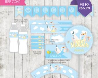 Kit Baby shower Stork/Stork Baby Shower