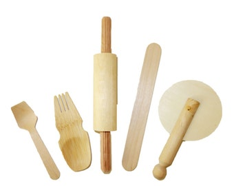 Compostable Play Clay Tools, Starter Pack