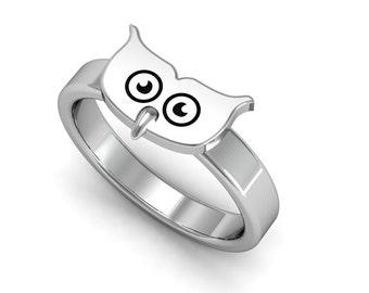 Owl engagement ring Etsy