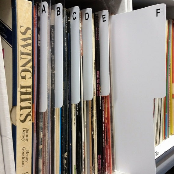 26 Az Shelf Divider Cards For 12 Dj 33rpm Lp By Sleeviewonder