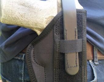 TT, CZ 75 Belt Slide Left and Right Hand Holster Black cordura holster